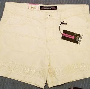 Jordache New Midi Shorts Off-White Sz.16